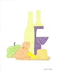 Wine and Cheese Scribble 1 by bana23