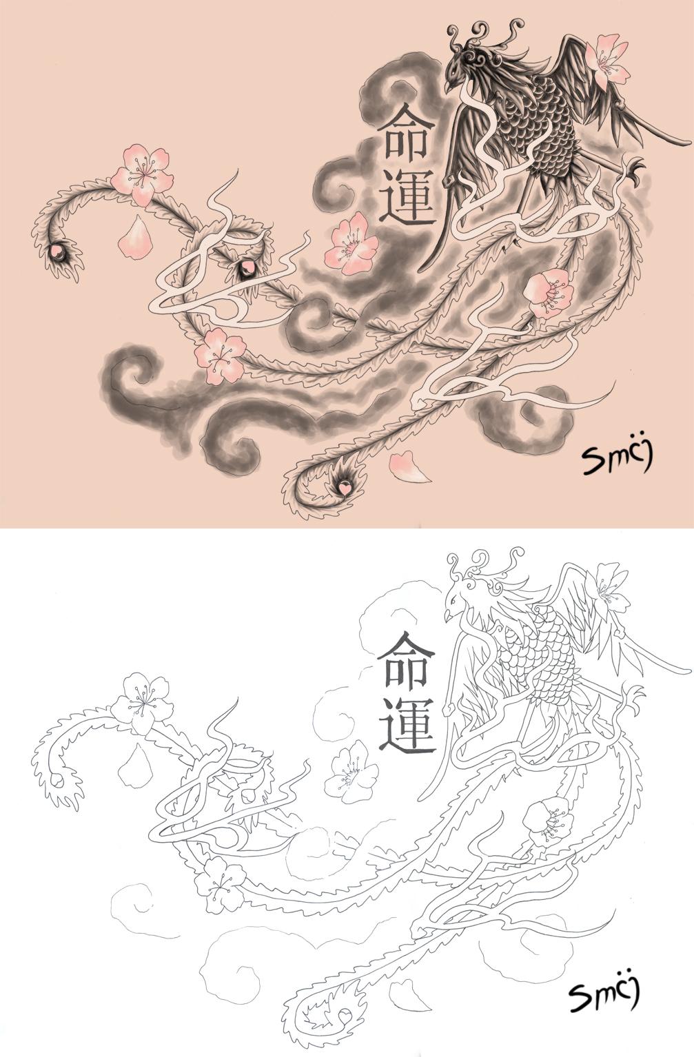 Kalabara Phoenix Tattoo by smij