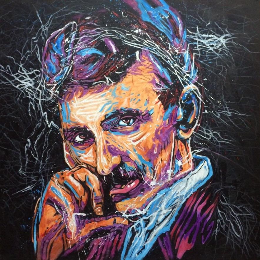 Nikola Tesla Pop Art By Atomiccolm On Deviantart