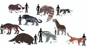 Bestiary- Mammals I by Crystaldemon93