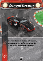 Car Racing Game Sample Card by mike6432