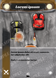 Car Racing Game Sample Card - Missile by mike6432