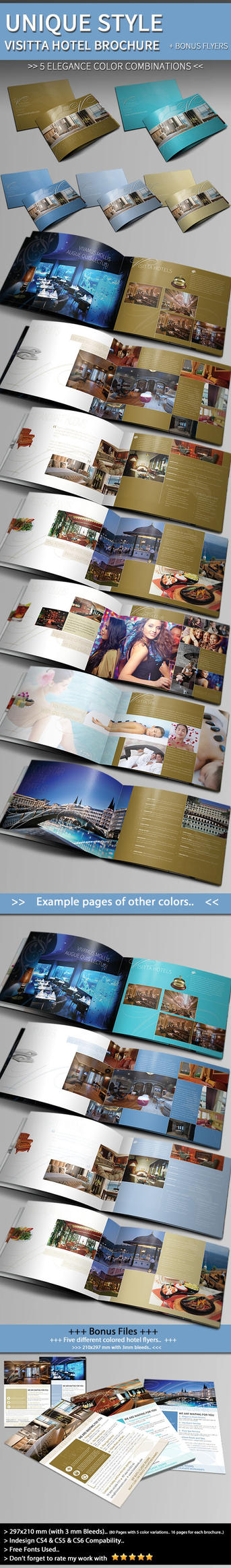 Unique Hotel Brochure + Flyer Template by BALKAy