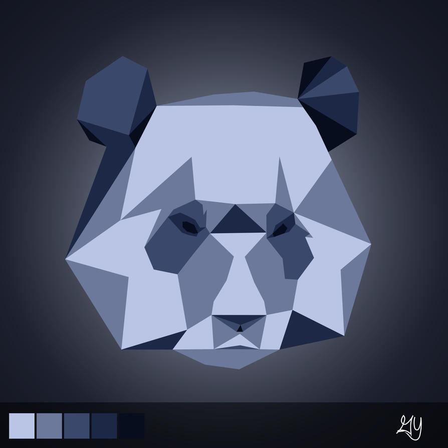 Panda Polygon By Gyaeggy