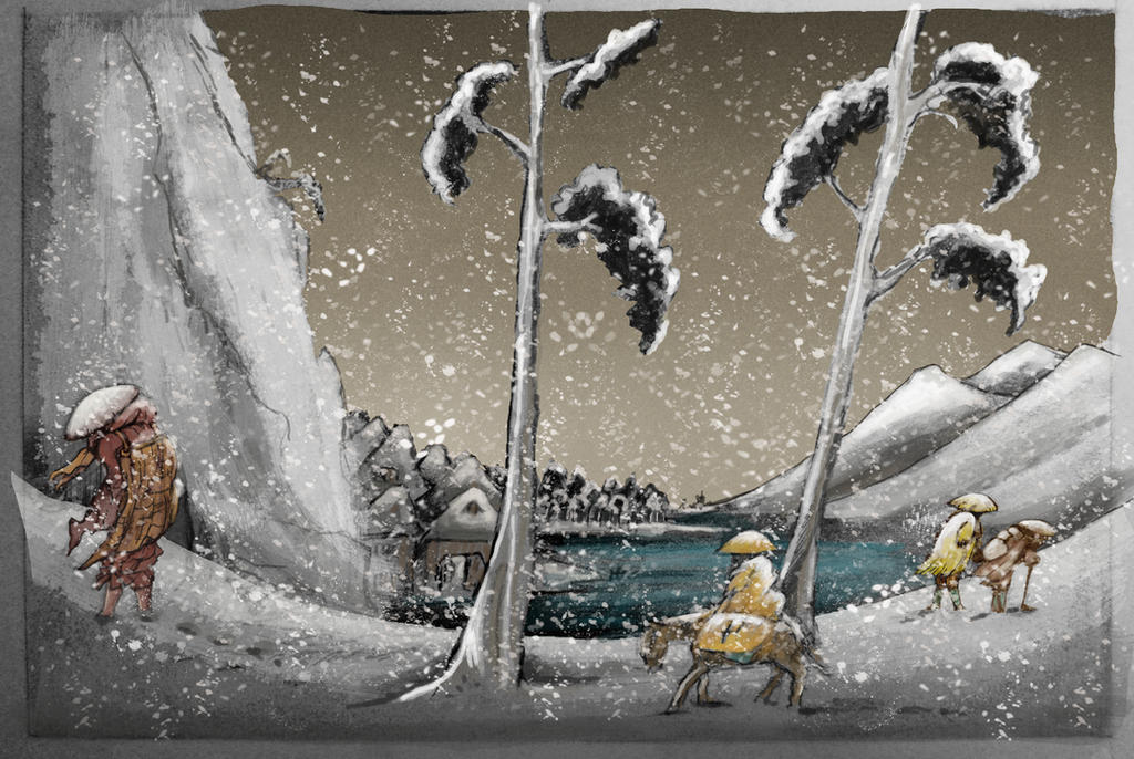 Japanese Snow Scene Colour Final