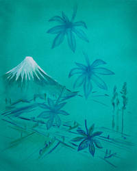 Falling Leaves Mount Fuji  by mr-macd