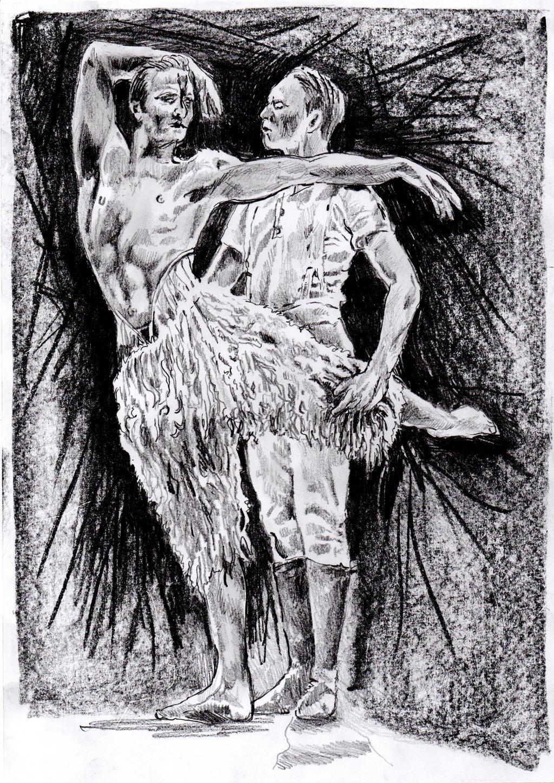 Mathew Bourne's Swan Lake Sketch