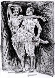 Mathew Bourne's Swan Lake Sketch by mr-macd