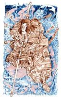 Shimamura Danjo Takanori Sketch Aqua by mr-macd