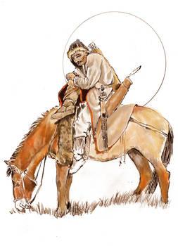 Hun Horse Archer Fifth Century Sketch Latest