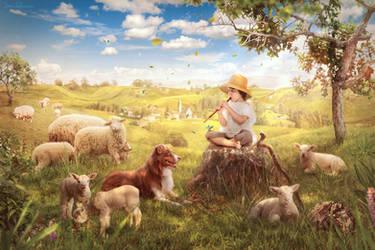 The Little Shepherd by IleenI