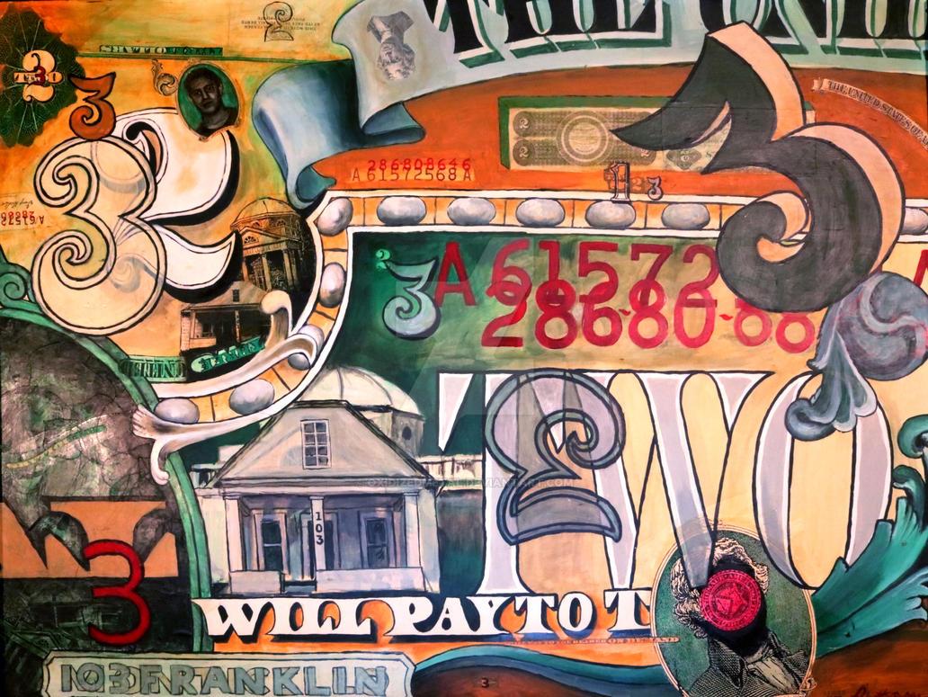 3 Dollar Bill 2 by oxidizedmetal