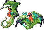 Sprites: Brightbreasted Wyvern by Laughing-Dove