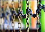 blurred chains