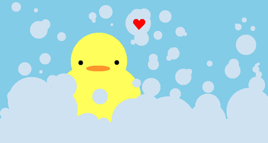 bath time rubber ducky