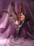 Bettie Page Pin up glass statue 2.