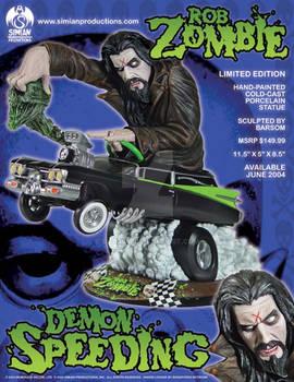 Rob Zombie Demon speeding statue Barsom