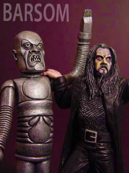 Rob Zombie and the Creeper Micro sculpture