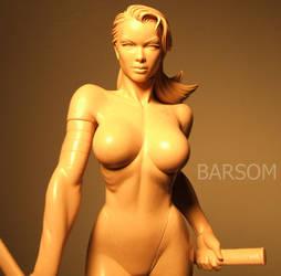 Psylocke X man wax sculpture.