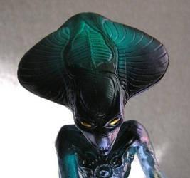 IDfour Alien clear sculpture.