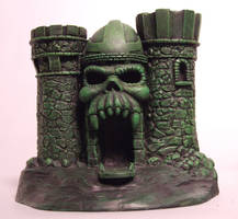Fantasy Skull Castle. BRONZE dust fauxLtd. 2012