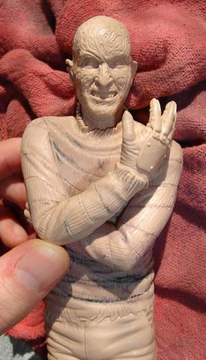 Freddy Kruger sculpture wip.