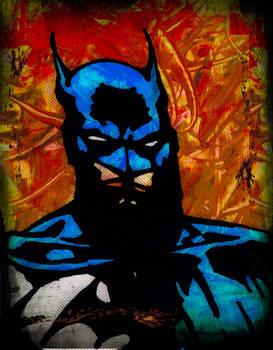 Batman paint art
