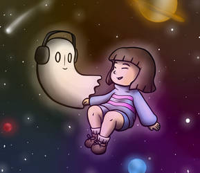 Napstablook and Frisk are One with the Cosmos