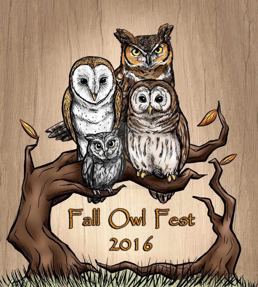 Fall Owl Fest 2016 Logo by ShakeablePanda