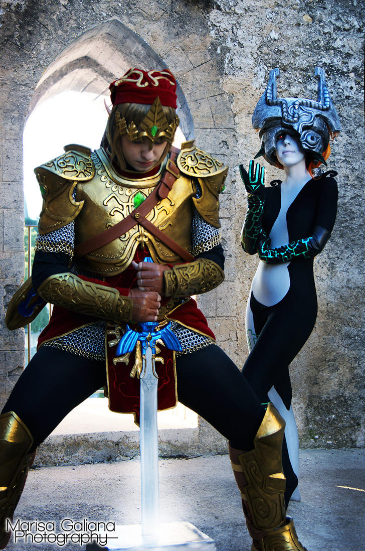 Link and Midna by NyanRuki