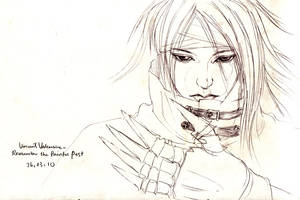 Painful Past-sketch by moyan