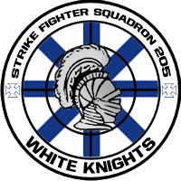 Strike Fighter Squadron 205 'White Knights' Patch by DEathgod65