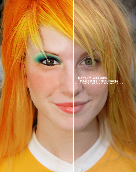 Hayley Williams makeup 3 by Miss-Machi on DeviantArt Paramore Tour