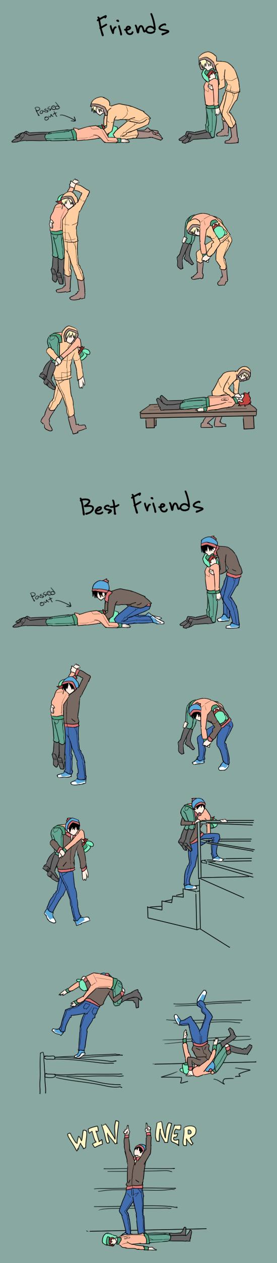 Friends VS Best Friends by azngirlLH