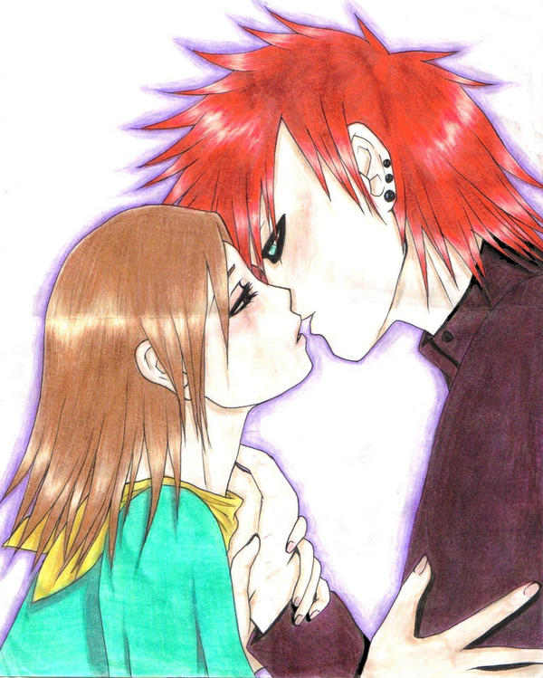 Gaara x Matsuri_almost by Sun-Sparkles on DeviantArt Gaara And Matsuri Kiss