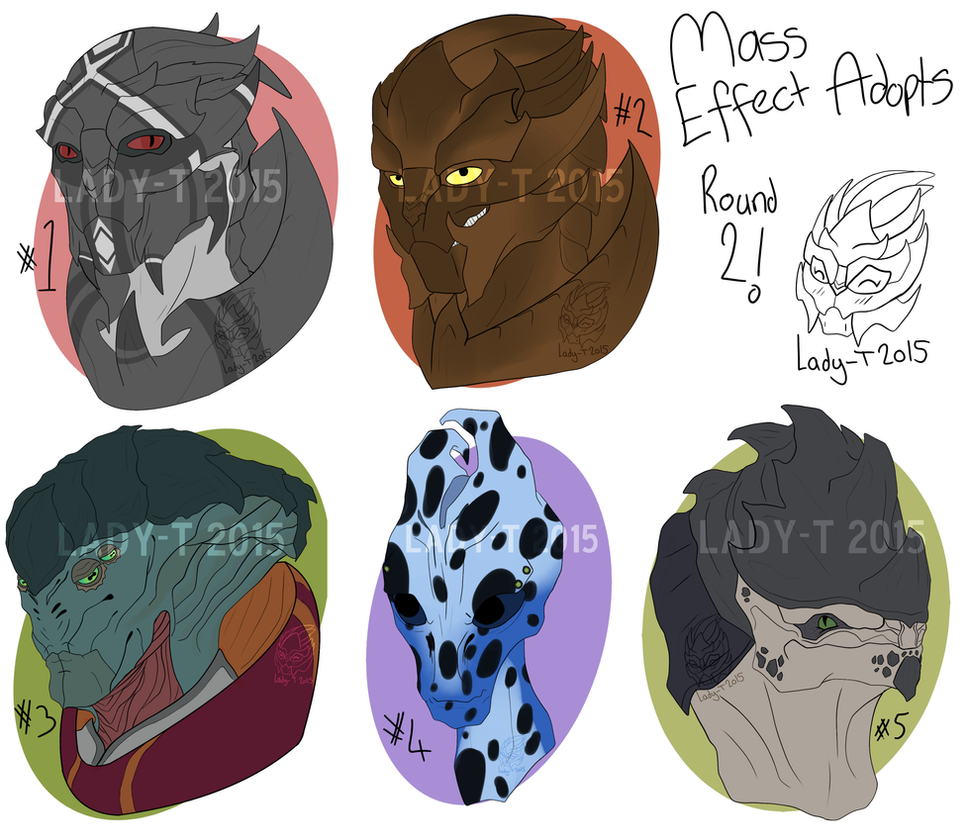 Mass Effect Adoptables Round 2 by Silent-Black-Sky45