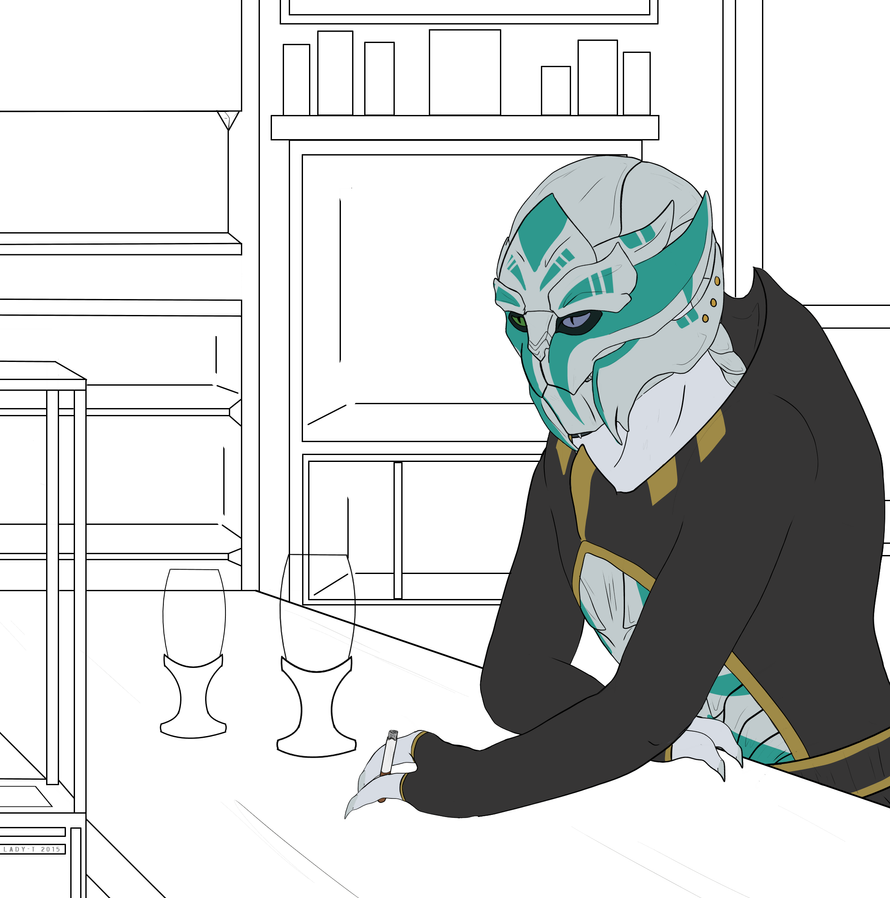 wip Sitting, Waiting by Silent-Black-Sky45
