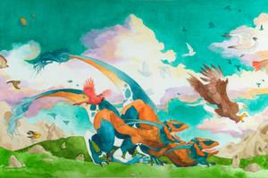 Raptors by seraphxviii