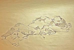 Laying Lady by seraphxviii