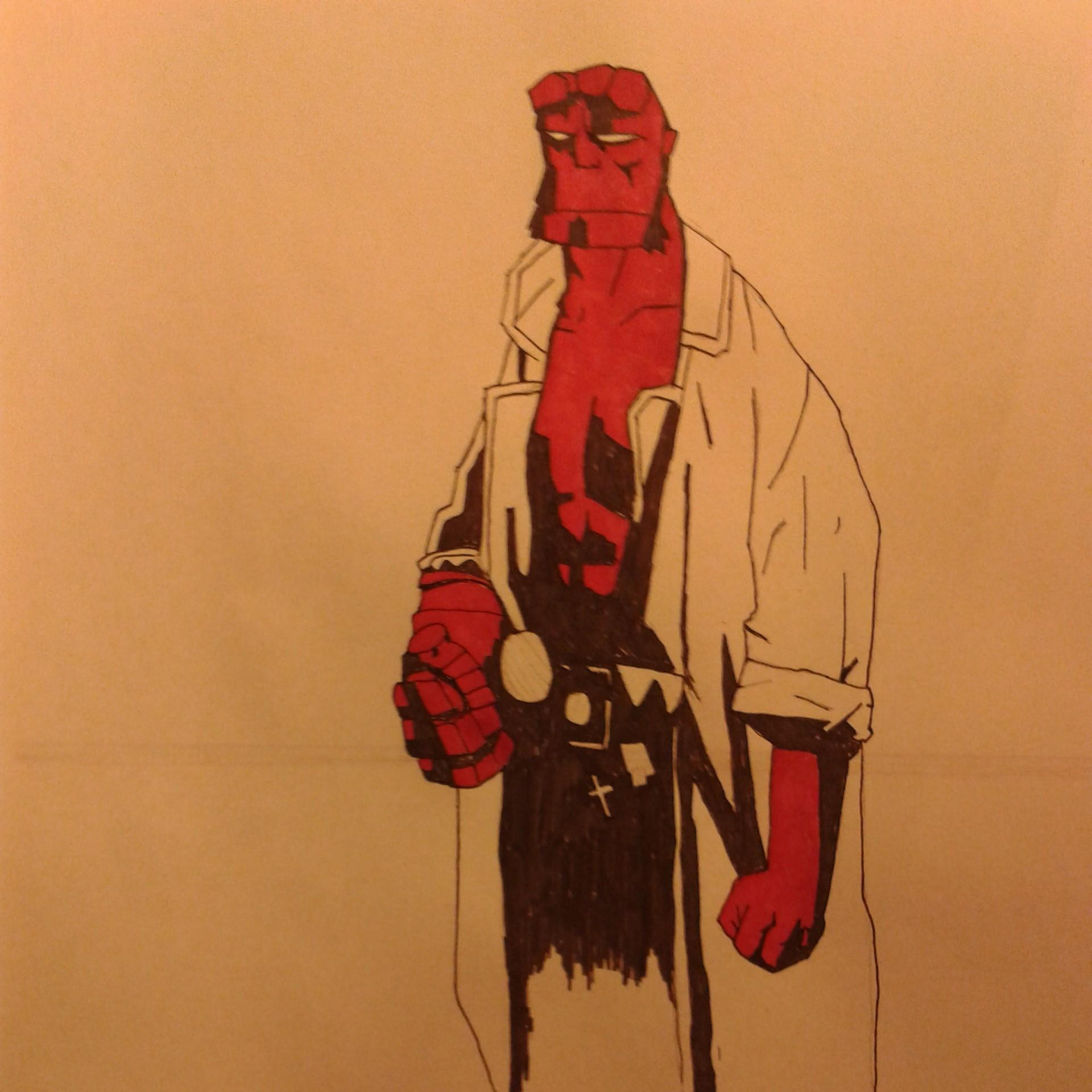 Hellboy WIP part 1 by gamespeaker13