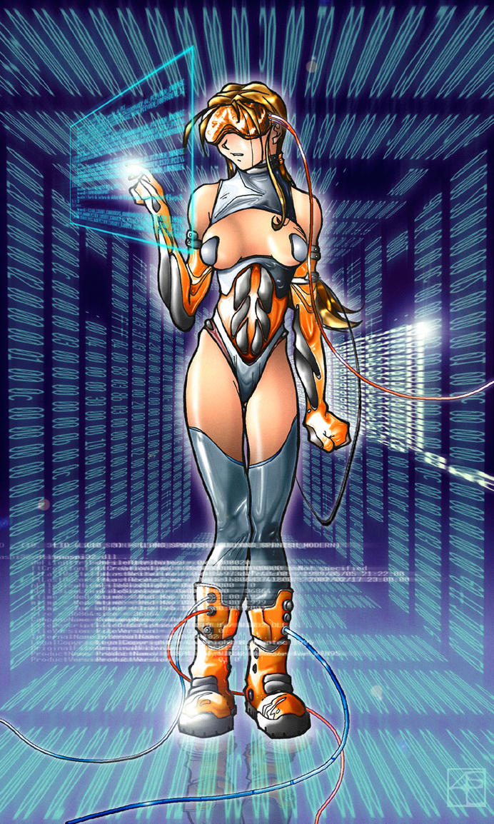 Ancient Stuff 3: Network Girl by tognin