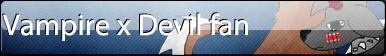 Vampire x Devil fan button by Amber2206