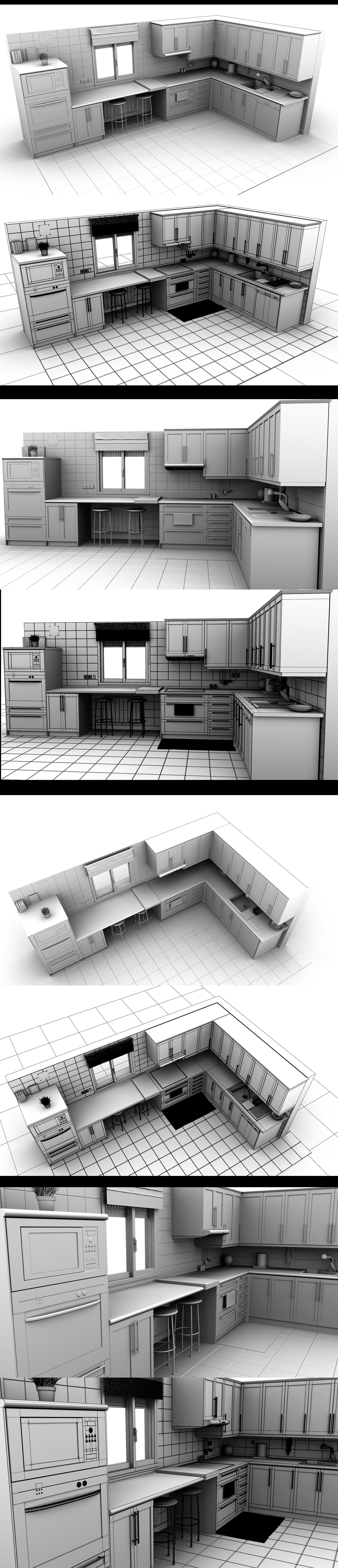 3D Kitchen by sanchiesp