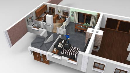 3D FLOOR PLAN LOW LEVEL by sanchiesp