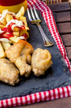 Chiken Wings with Fries 1A SanchiEsp