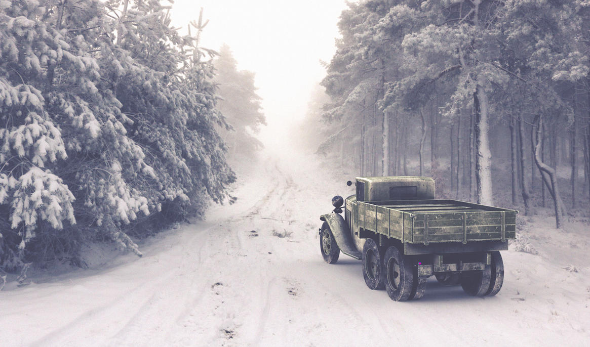 GAZ AAA TRUCK  WINTER VERSION2 by sanchiesp