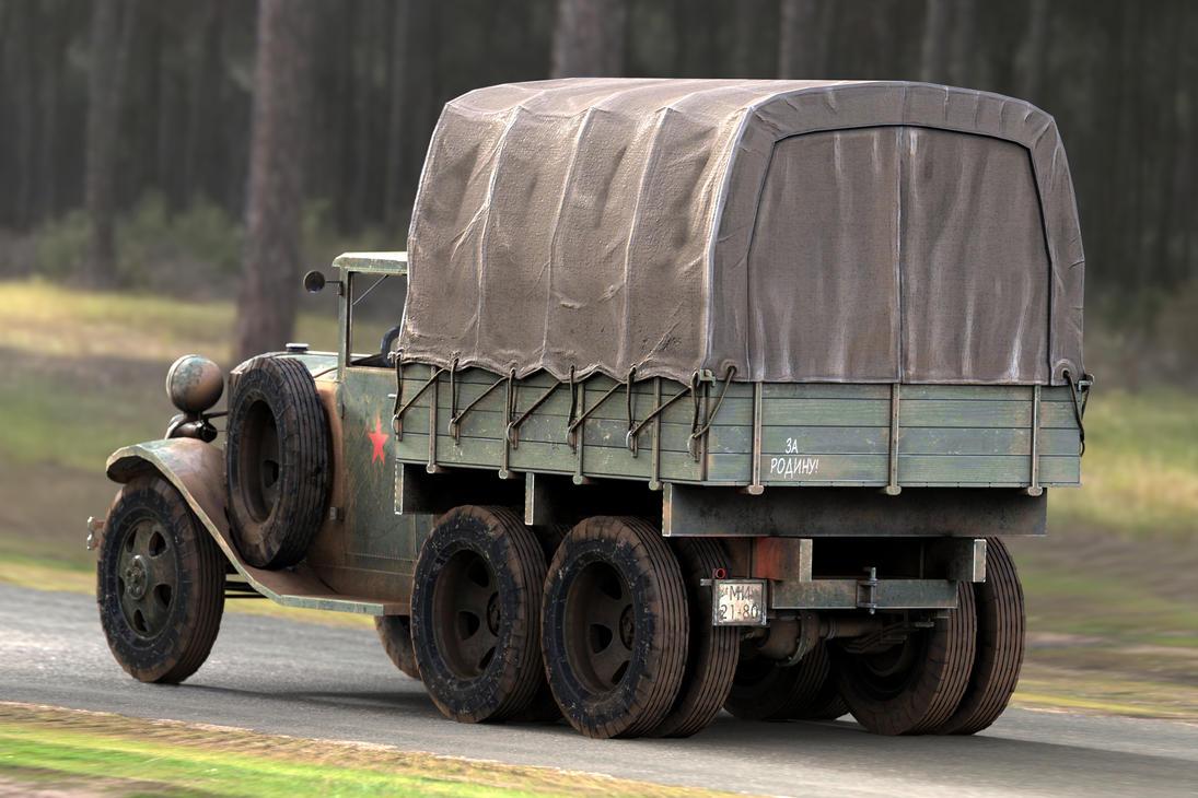 GAZ AAA CARGO TRUCK BACK by sanchiesp