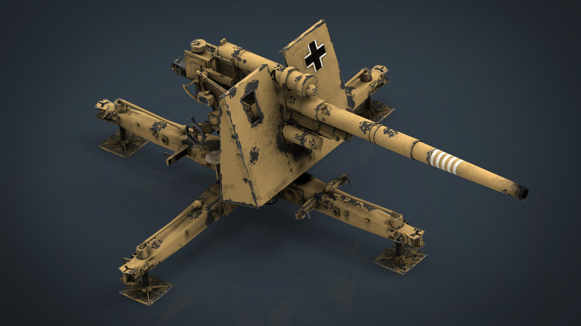 GERMAN FLAK 36 88mm by sanchiesp