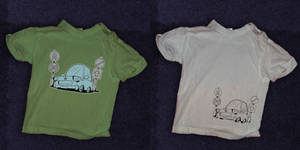 t-shirt gift with car sketch