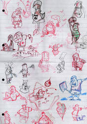 doodles at work-dec2009 by riverta